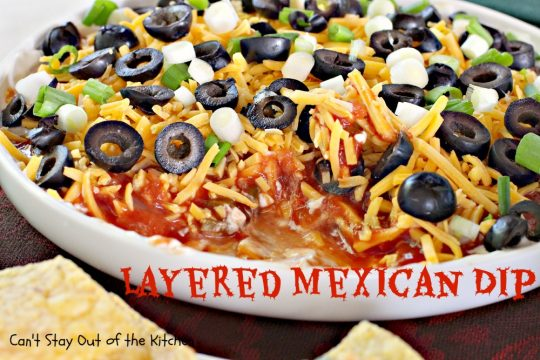 Layered Mexican Dip - IMG_6867