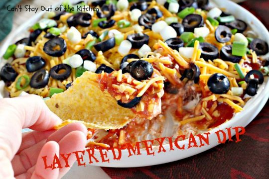 Layered Mexican Dip - IMG_6890