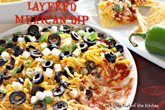 Layered Mexican Dip - IMG_6903