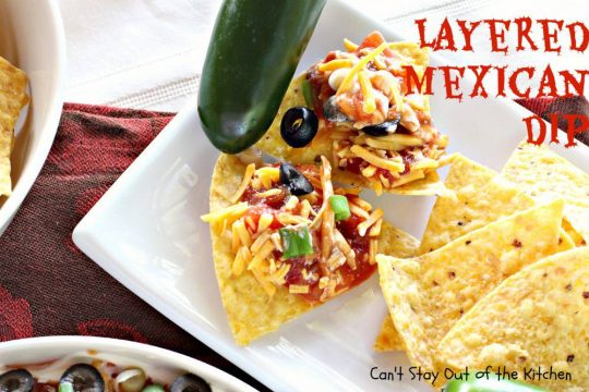 Layered Mexican Dip - IMG_6909