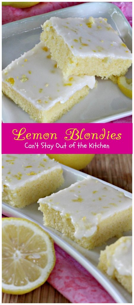 Lemon Blondies | Can't Stay Out of the Kitchen | Cool, refreshing and scrumptious #lemon #dessert that's very easy to make. #cookie #brownie