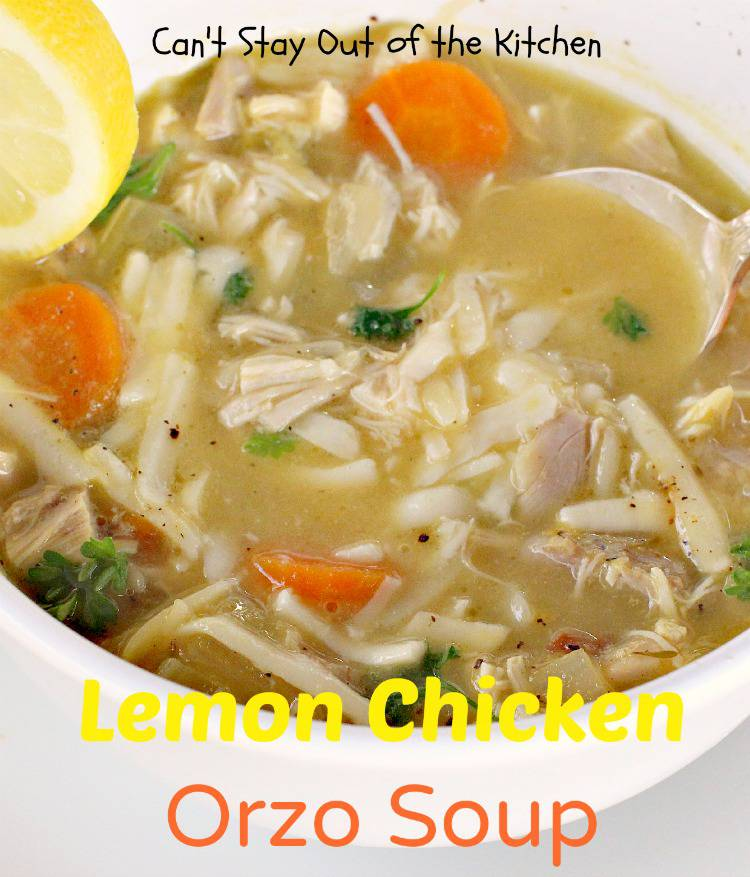 lemon chicken orzo soup is a tasty and delicious soup
