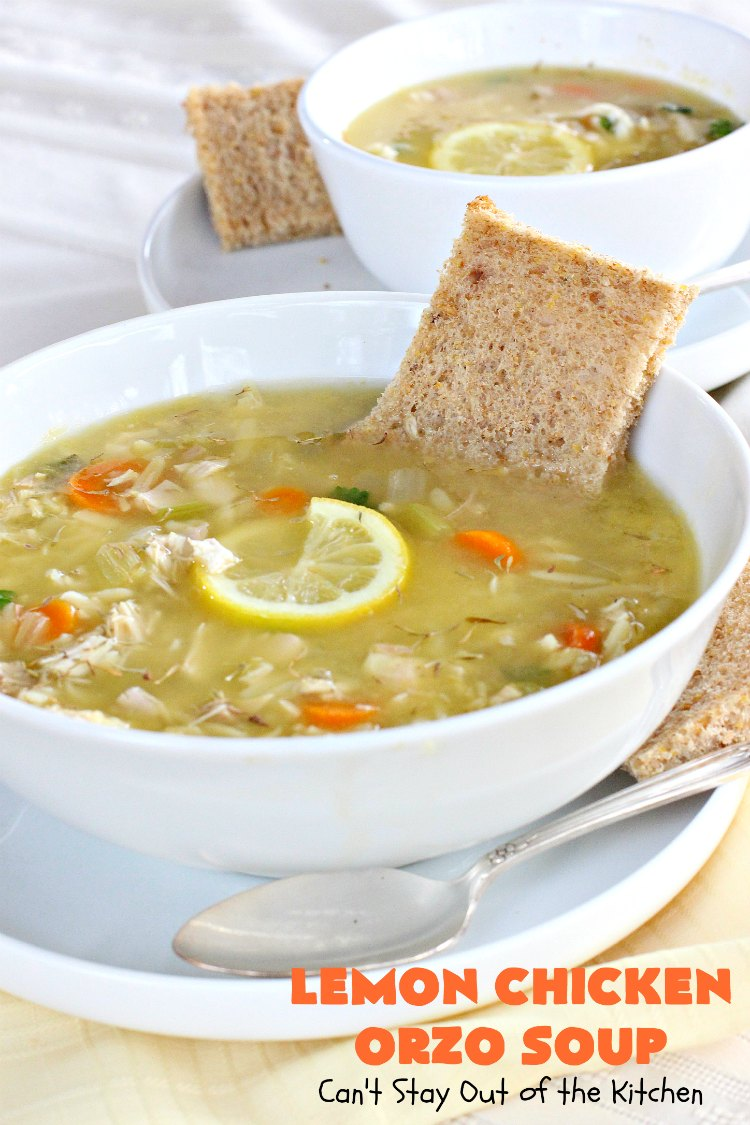 how to make lemon chicken orzo soup