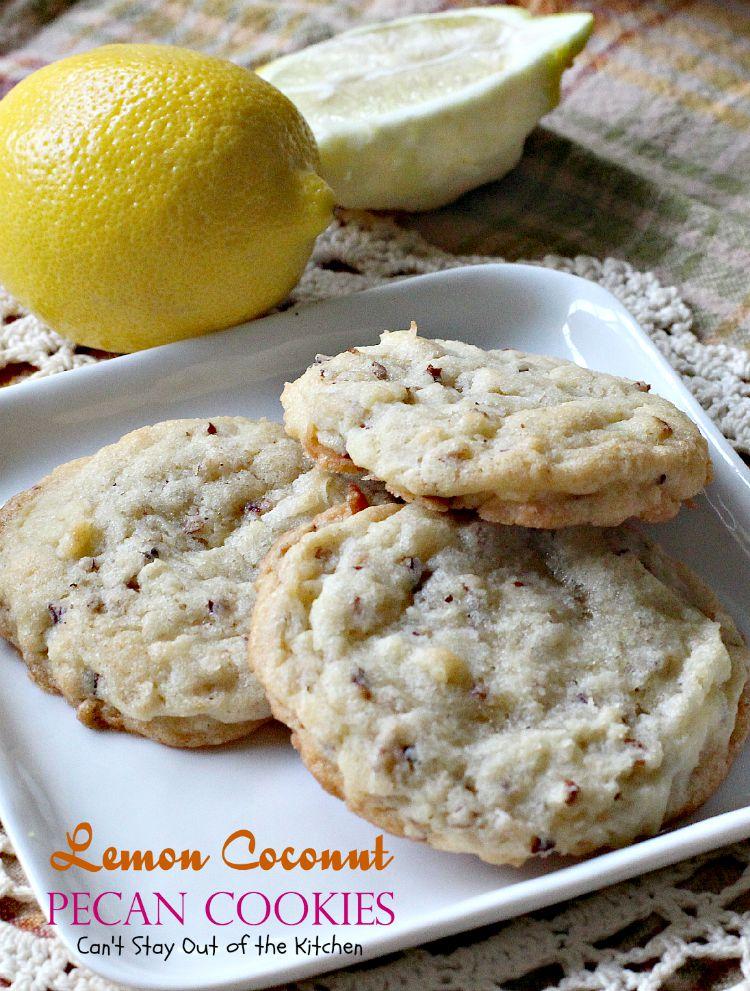 Lemon Coconut Pecan Cookies