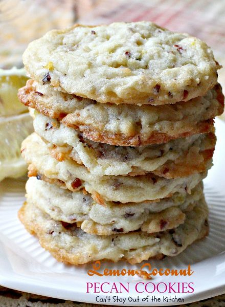Lemon Coconut Pecan Cookies | Can't Stay Out of the Kitchen | these lovely sugar #cookies are filled with #lemon zest, #coconut & #pecans. Great for #holidays or #tailgating. #dessert