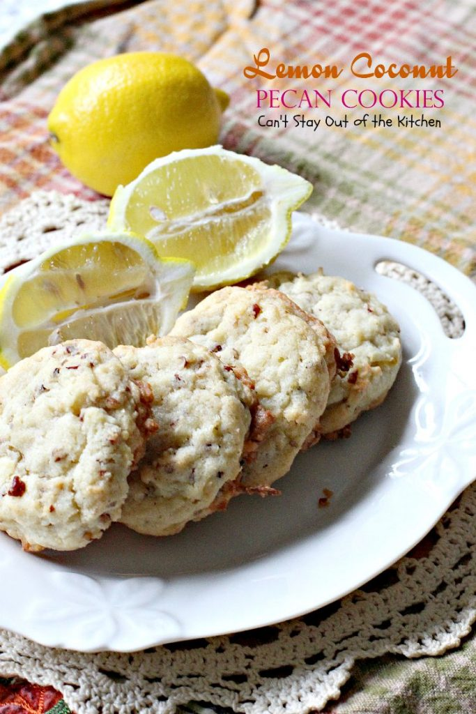 Lemon Coconut Pecan Cookies | Can't Stay Out of the Kitchen
