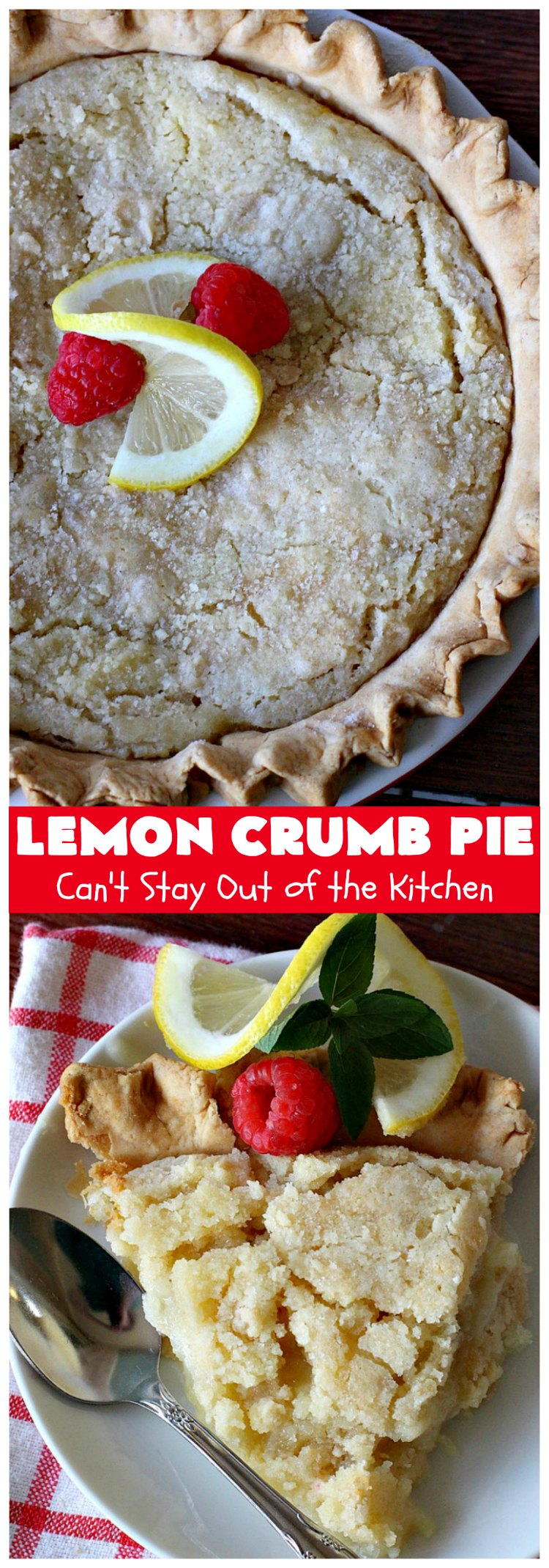 Lemon Crumb Pie   Can't Stay Out of the Kitchen