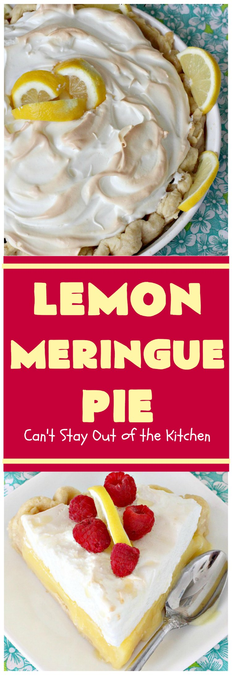 Lemon Meringue Pie   Can't Stay Out of the Kitchen