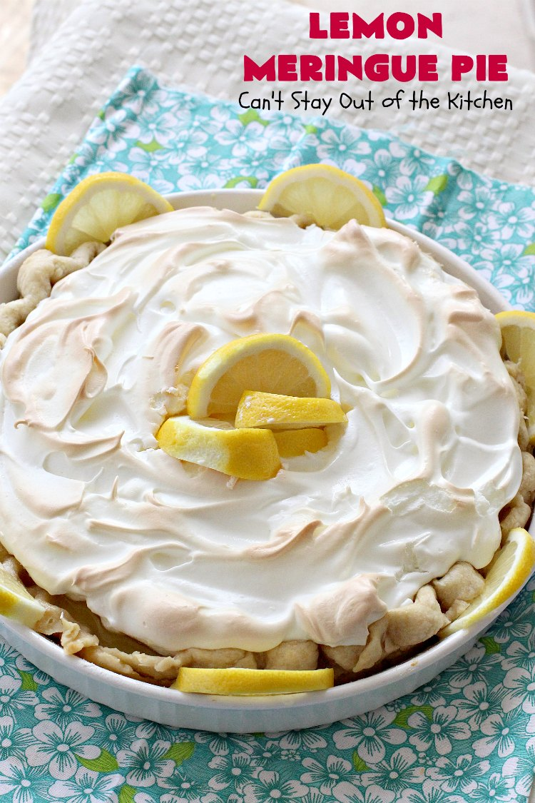 Lemon Meringue Pie - Can\'t Stay Out of the Kitchen