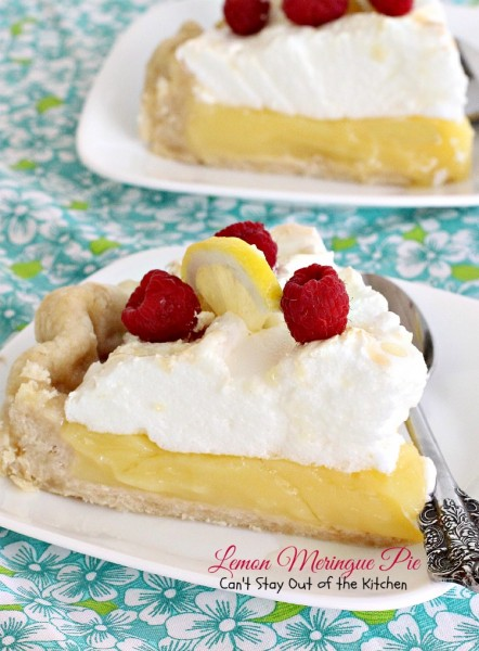 Lemon Meringue Pie | Can't Stay Out of the Kitchen | the BEST #lemonmeringuepie ever! #lemon #pie #dessert