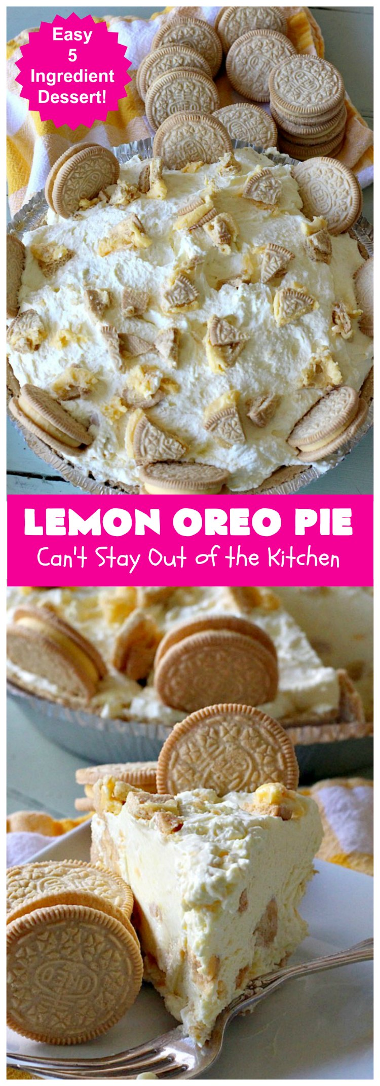Lemon Oreo Pie   Can't Stay Out of the Kitchen