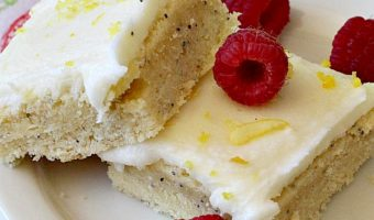 Lemon Poppyseed Blondies