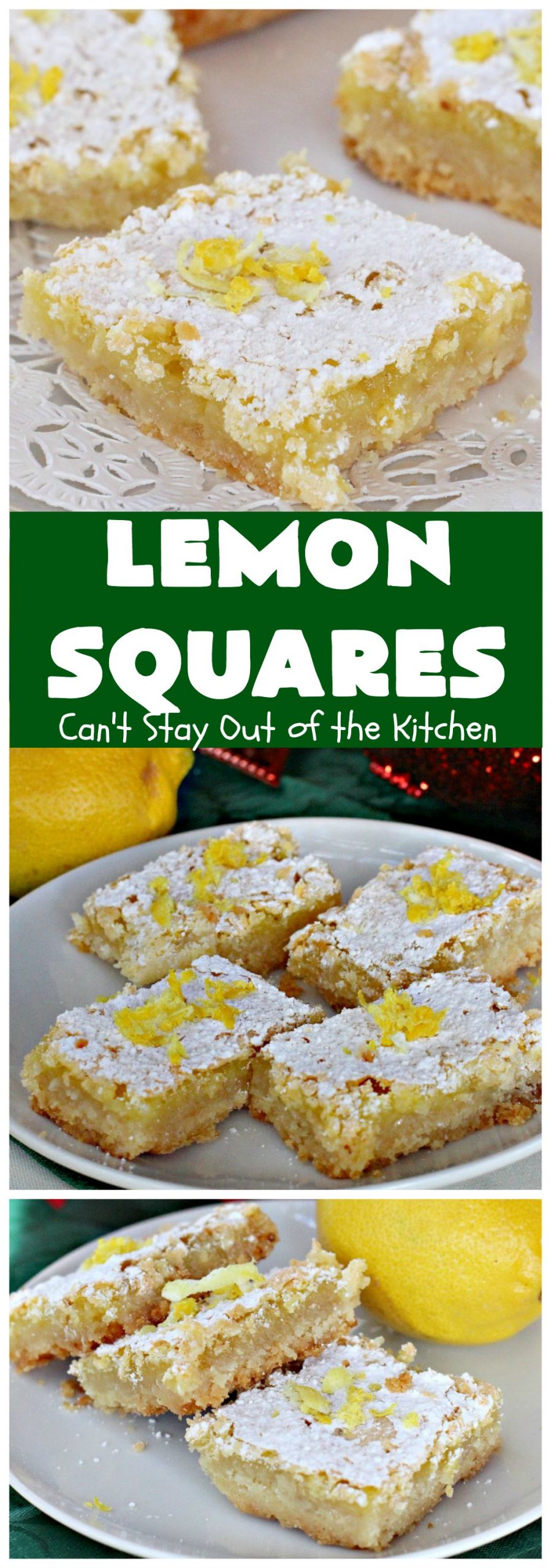Lemon Squares   Can't Stay Out of the Kitchen