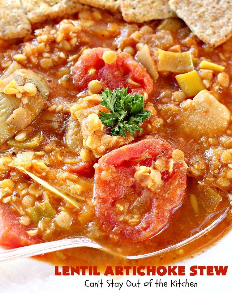 Lentil Artichoke Stew