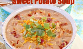 Loaded Baked Sweet Potato Soup