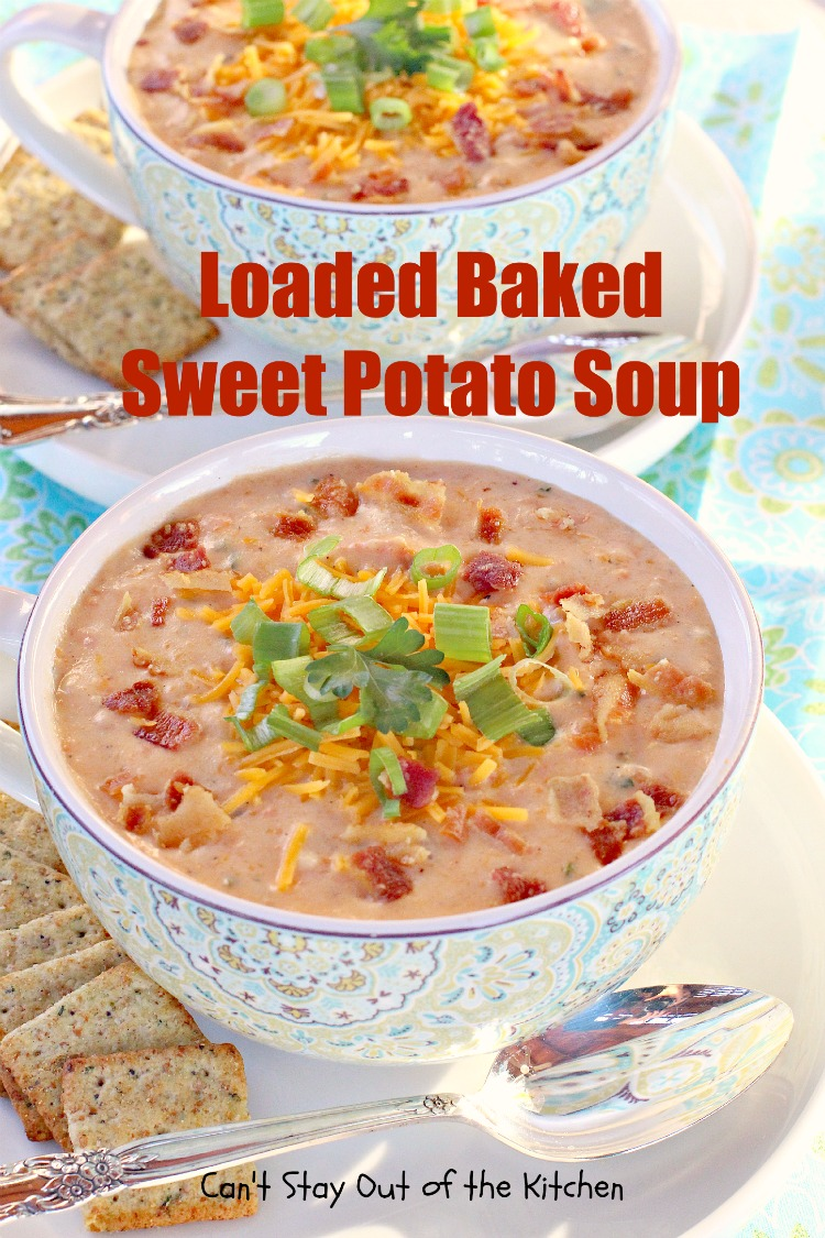 Loaded Baked Sweet Potato Soup