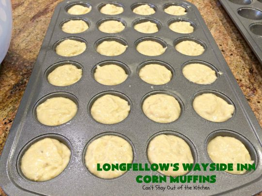 Longfellow's Wayside Inn Corn Muffins | Can't Stay Out of the Kitchen | These fantastic #muffins are the best! This is the famous #WaysideInn Restaurant #recipe. It's a terrific #CornMuffin for either #breakfast or dinner. #Corn #BreakfastMuffins #LongfellowsWaysideInn #LongfellowsWaysideInnCornMuffins