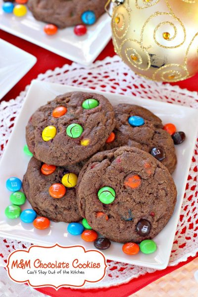 M&M Chocolate Cookies | Can't Stay Out of the Kitchen