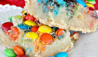 M&M Gooey Butter Cake Bars