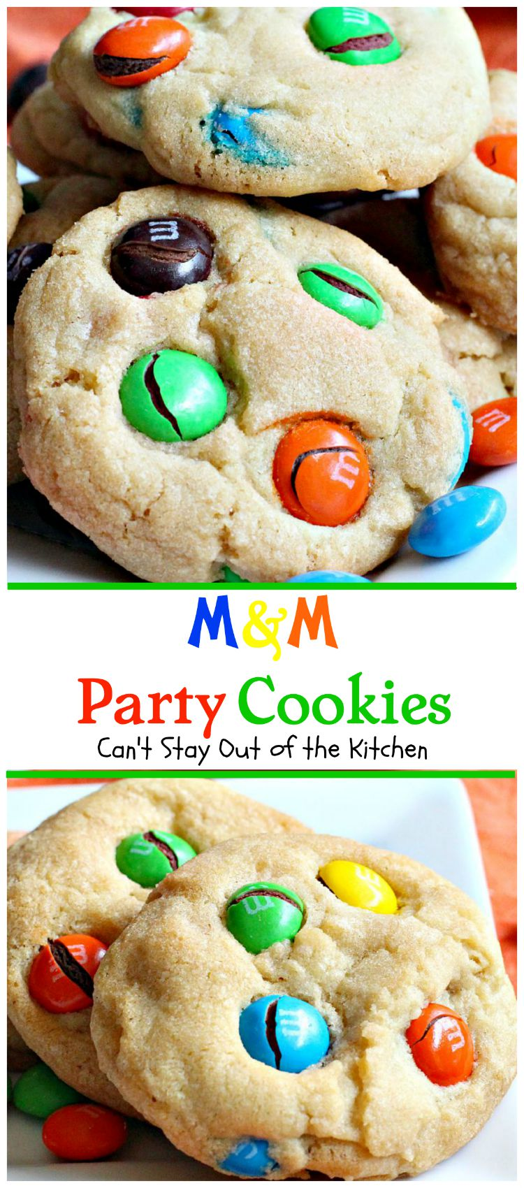 M M Party Cookies