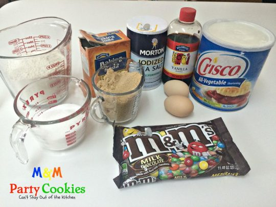 M&M Party Cookies | Can't Stay Out of the Kitchen | sensational #cookies that are great for #holiday parties, #tailgating, or any time you need a #chocolate or #M&M fix! #dessert