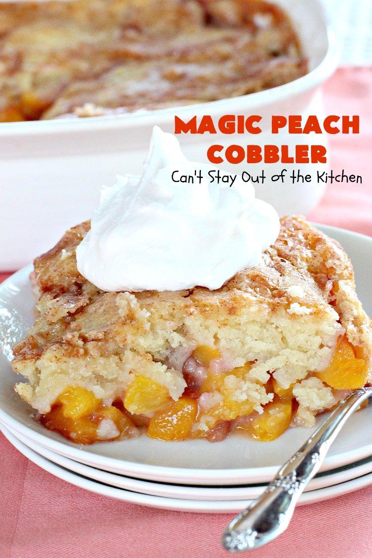 Magic Peach Cobbler