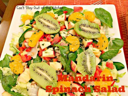 Mandarin Spinach Salad - IMG_2834