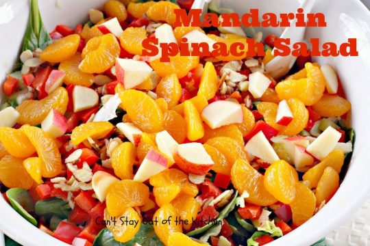 Mandarin Spinach Salad - IMG_9221