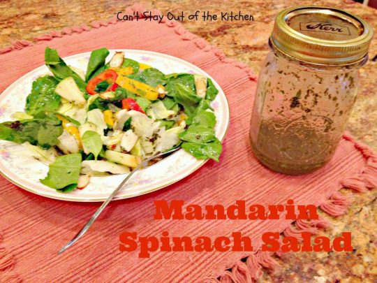 Mandarin Spinach Salad - Recipe Pix 5 379
