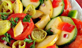Marinated Squash and Tomato Salad