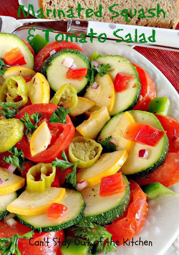 Marinated Squash and Tomato Salad