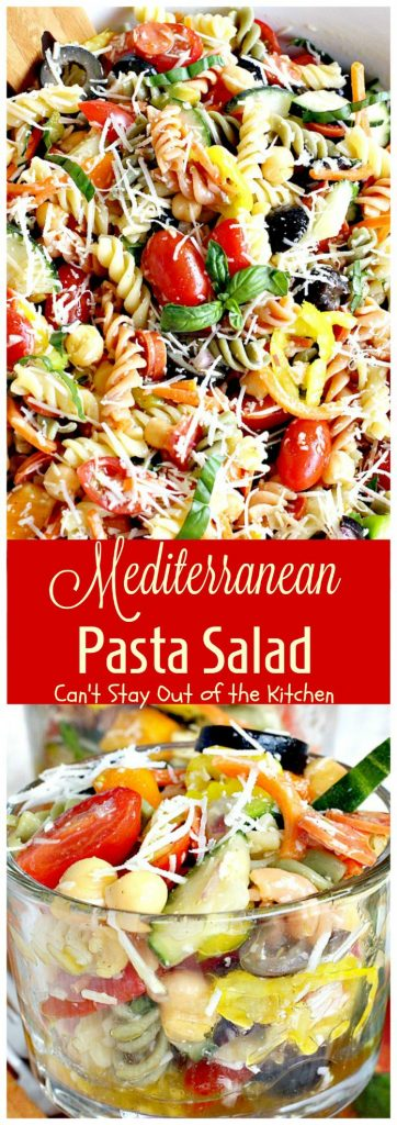 Mediterranean Pasta Salad | Can't Stay Out of the Kitchen