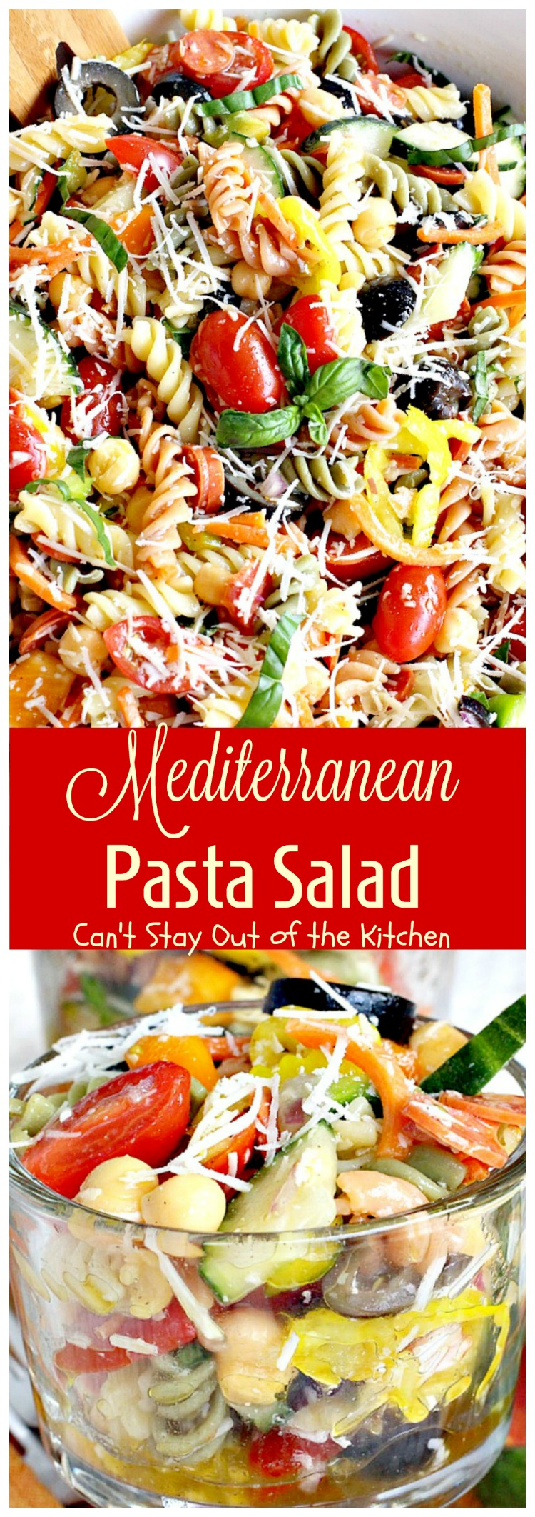 Mediterranean Pasta Salad is one of the best pasta salads you'll ...