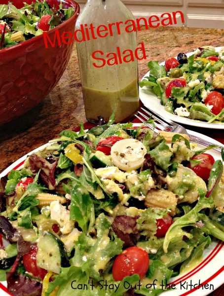 Mediterranean Salad | Can't Stay Out of the Kitchen