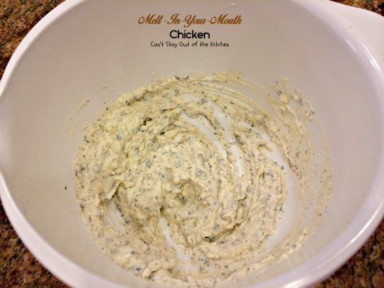 Melt-In-Your-Mouth Chicken | Can't Stay Out of the Kitchen | quick and easy recipe for #chicken. #cheese #glutenfree
