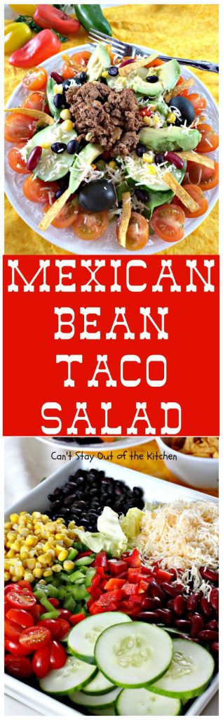Mexican Bean Taco Salad | Can't Stay Out of the Kitchen