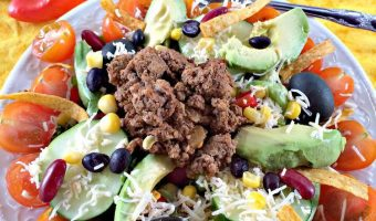 Mexican Bean Taco Salad