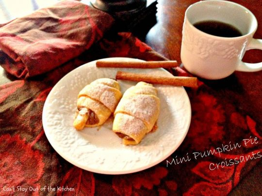 Mini Pumpkin Pie Croissants - Recipe Pix 9 179
