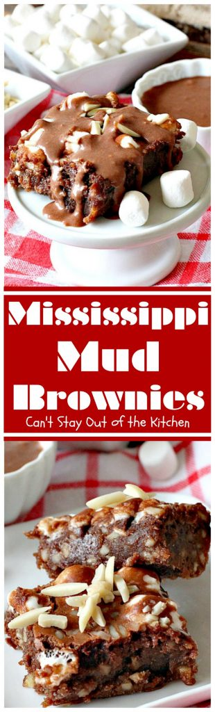 Mississippi Mud Brownies | Can't Stay Out of the Kitchen