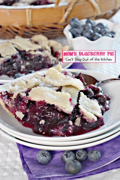 Mom S Blueberry Pie Can T Stay Out Of The Kitchen