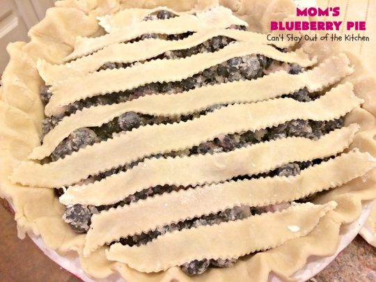 Mom's Blueberry Pie | Can't Stay Out of the Kitchen | one of my favorite #desserts growing up. This old-fashioned recipe is a great way to enjoy #blueberries! #pie #blueberrypie