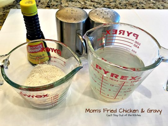 Mom's Fried Chicken and Gravy | Can't Stay Out of the Kitchen | my Mom's mouthwatering recipe for #FriedChicken. Great served with mashed potatoes since this makes a homemade #gravy. Family favorite!