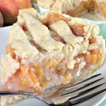 Mom's Peach Pie | Can't Stay Out of the Kitchen | fabulous #homemade #peachpie with a homemade #piecrust. #dessert #pie #peaches
