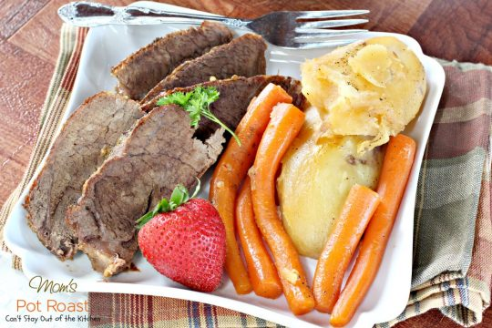 Mom's Pot Roast | Can't Stay Out of the Kitchen | my Mom's favorite way to make #potroast and our favorite way to eat it! #beef #potatoes #carrots