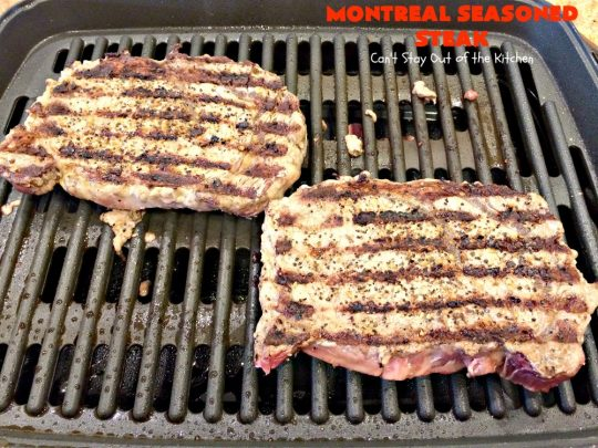 Montreal Seasoned Steak | Can't Stay Out of the Kitchen | the easiest way to prepare #steak! This one uses only 2 ingredients. It's great for #holidays like #MothersDay or #FathersDay or summer holiday fun when you're grilling out. #beef #glutenfree