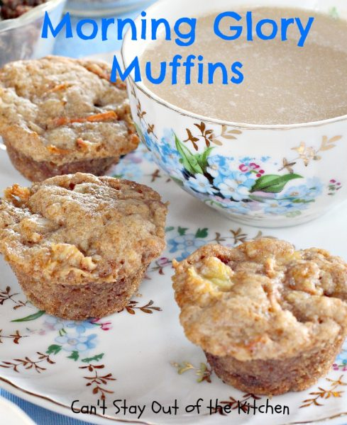 Morning Glory Muffins | Can't Stay Out of the Kitchen