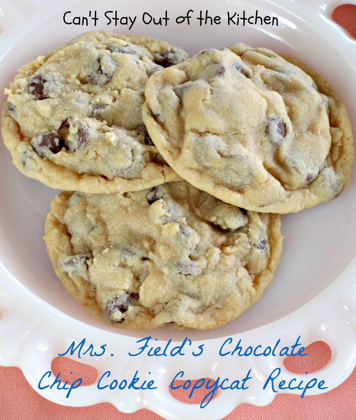 Mrs Fields Chocolate Chip Cookie Cake Recipe