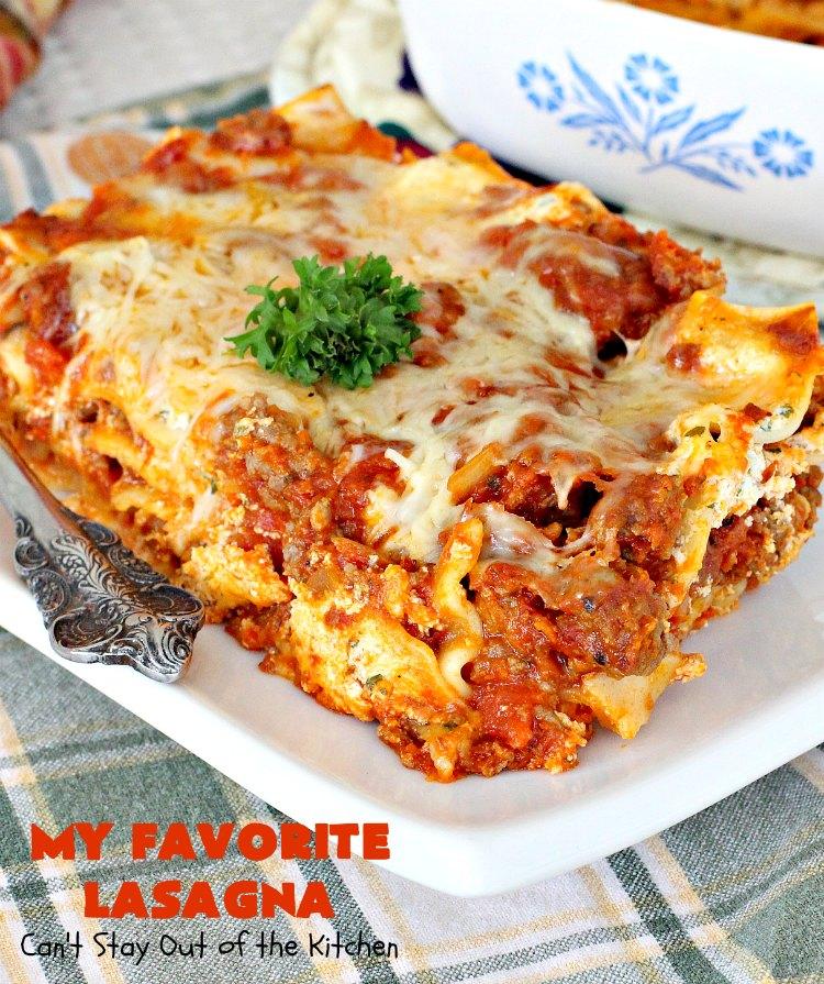 My Favorite Lasagna