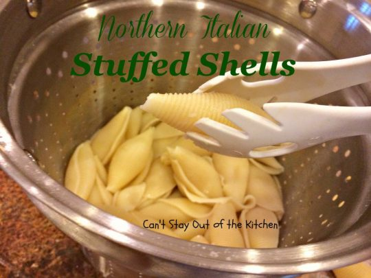 Northern Italian Stuffed Shells - IMG_1161