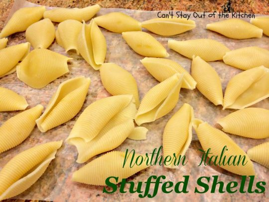Northern Italian Stuffed Shells - IMG_1162